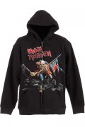 IRON MAIDEN SCUFFED TROOPER WITH BACK PRINTING ZIP HOODIE