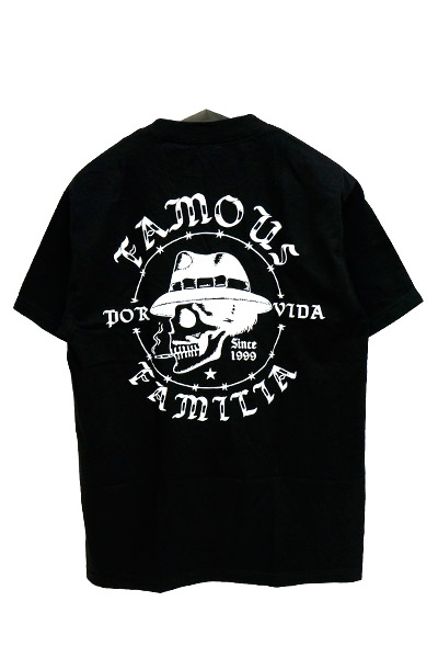 FAMOUS STARS AND STRAPS POR VIDA TEE BLK