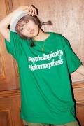 PSYCHOLOGICAL METAMORPHOSIS DIAGONAL TEE GREEN