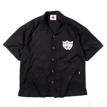 PUNK DRUNKERS 2FACE開衿シャツ BLACK