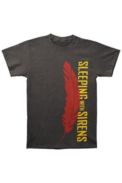 SLEEPING WITH SIRENS Feather Charcoal Grey T-Shirt