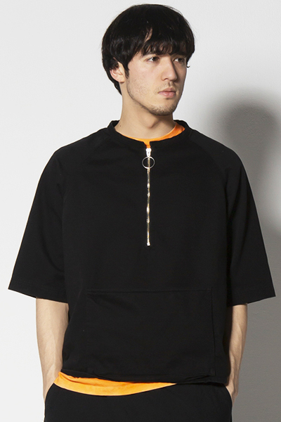VIRGO VG-SH-202 PULLOVER MILY ZIP SHIRTS BLACK