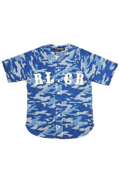 ROLLING CRADLE STRIPE CAMO BB-SHIRT / Blue