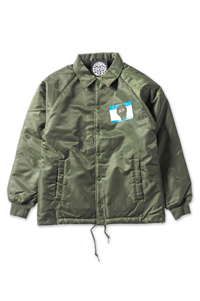 PUNK DRUNKERS Throw upコーチジャケット - KHAKI