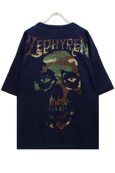 Zephyren (ゼファレン) BIG S/S TEE -SKULL HEAD- NAVYxCAMO