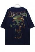 Zephyren (ゼファレン) BIG S/S TEE -SKULL HEAD- NAVYxCAMO