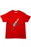 LILWHITE(dot) (リルホワイトドット) LW-18AU-T02 -TWISTED- TEE RED