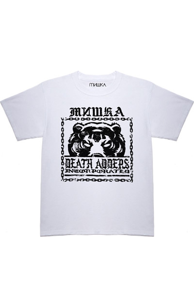 MISHKA (ミシカ) Chained Death Adder TEE WHITE
