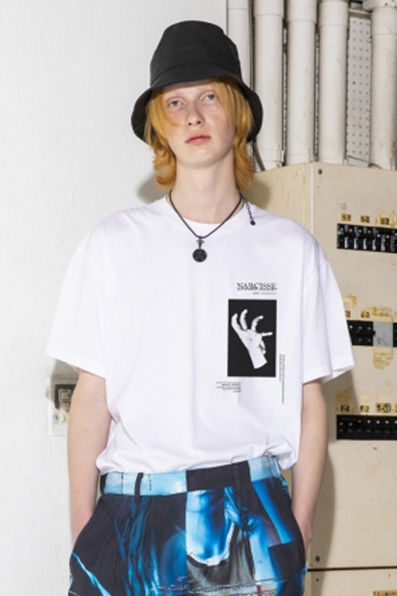 PARADOX PX17-BT01 GRAPHIC BIG T-SHIRTS(NEVER SATISFIED) WHITE
