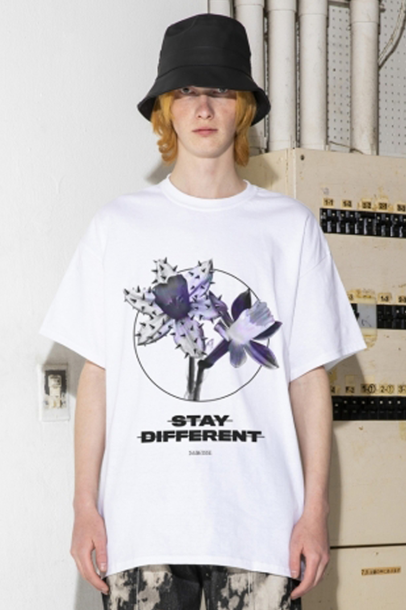 PARADOX PX17-BT02 GRAPHIC BIG T-SHIRTS(STAY DIFFERENT) WHITE