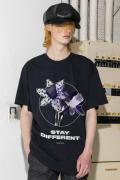PARADOX PX17-BT02 GRAPHIC BIG T-SHIRTS(STAY DIFFERENT) BLACK
