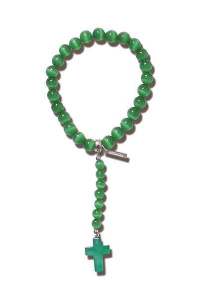 ANIMALIA AN19U-AC05  MEXICAN BEADS BRACELET GREEN