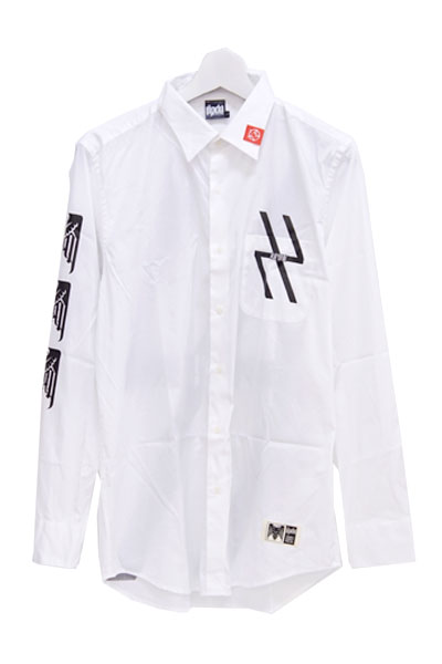 RIP DESIGN WORXX SIGNAL FIRE BROADCLOTH L/S SHIRT WHITE