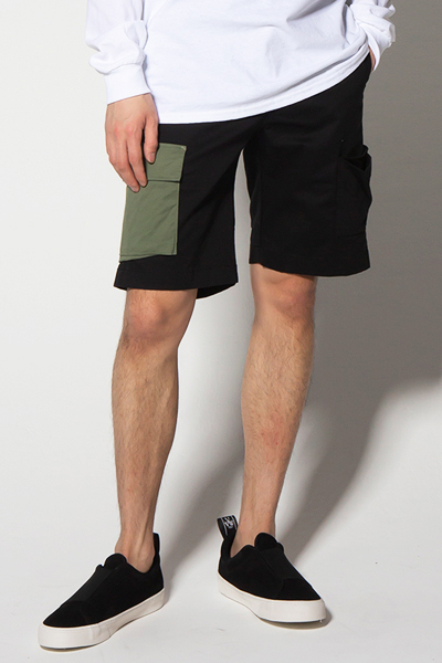 VIRGO VG-PT-222 PANEL CARGO SHORTS KHA/BLK