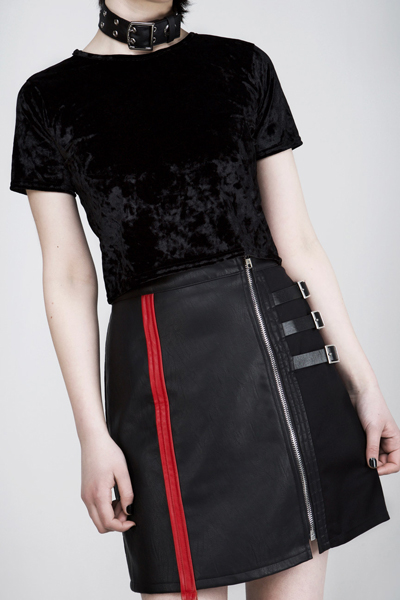 DISTURBIA CLOTHING Sioux Faux Leather Skirt