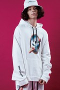 LILWHITE(dot) (リルホワイトドット) LW-18AW-S02 -REFLECTED- HOODIE WHITE