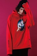 LILWHITE(dot) (リルホワイトドット) LW-18AW-S02 -REFLECTED- HOODIE RED