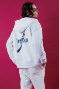 LILWHITE(dot) (リルホワイトドット) LW-18AW-S03 -TWISTED- FRONT ZIP HOODIE WHITE