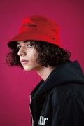 LILWHITE(dot) (リルホワイトドット) LW-18AU-H01 -ANOMALY- BUCKET HAT RED