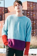 【予約商品】CHORD NUMBER EIGHT CH01-01K5-KN02 MOHAIR PANEL KNIT BLUE
