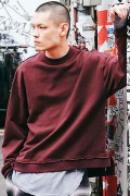 【予約商品】CHORD NUMBER EIGHT CH01-01K5-CL52 SIDE LACE UP SWEAT BURGUNDY