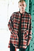 【予約商品】CHORD NUMBER EIGHT CH01-01K5-SL03 HEAVY TWILL CHECK LONG SHIRT RED
