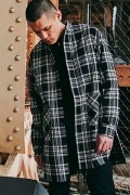 【予約商品】CHORD NUMBER EIGHT CH01-01K5-SL03 HEAVY TWILL CHECK LONG SHIRT BLACK