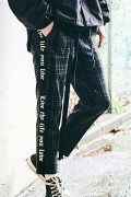 【予約商品】CHORD NUMBER EIGHT CH01-01K5-PL07 SIDE LINE CHECK CROPPED PANTS BLACK&GRN