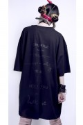 "KAVANE Clothing ""chapter""OVERSIZE CUTSEW(BLK)"