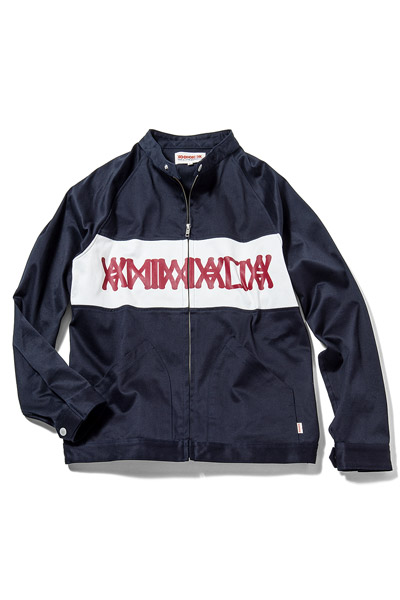 ANIMALIA AN16A-JK03 Harrington jacket #002 NAVYxRED
