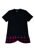 Zephyren (ゼファレン) SWITCHING TEE S/S BLACKxCHECK