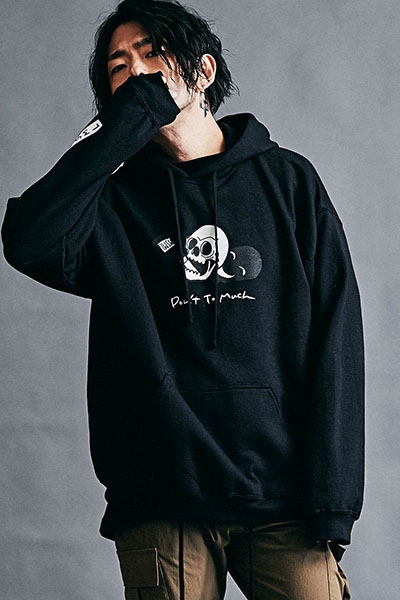 【予約商品】MUSIC SAVED MY LIFE (MSML) M201-01K5-CL51 DON'T TOO MUCH  HOODIE BLACK