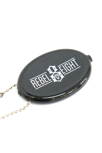 REBEL8 Rubber Coin Case Logo