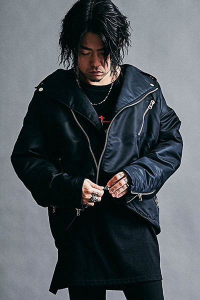 【予約商品】MUSIC SAVED MY LIFE (MSML) M201-01K5-JK01  OVERSIZED RIDERS JACKET BLACK