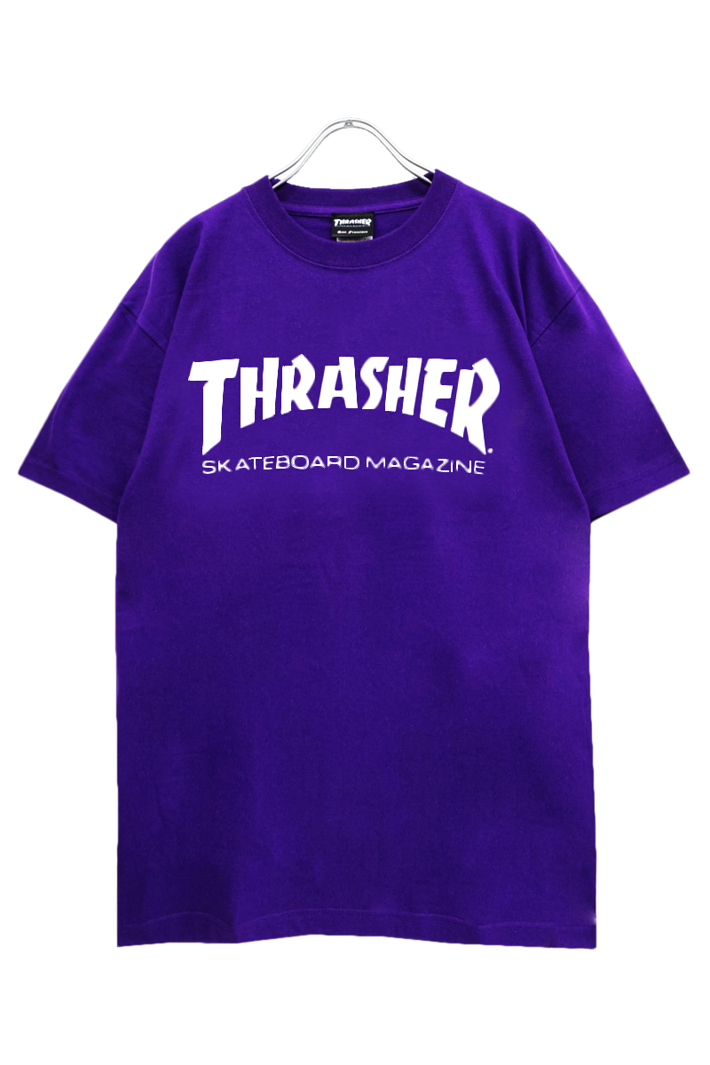 THRASHER TH8101 MAG LOGO TEE PURPLE