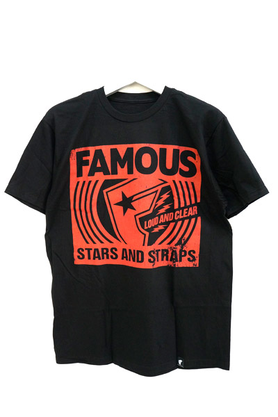 FAMOUS STARS AND STRAPS (フェイマス・スターズ・アンド・ストラップス) LOUD AND CLEAR TEE BLK