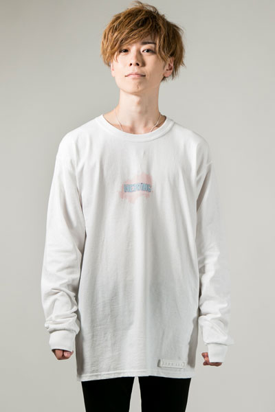 HEDWiNG Pastel Ink Long Sleeve T-shirt White