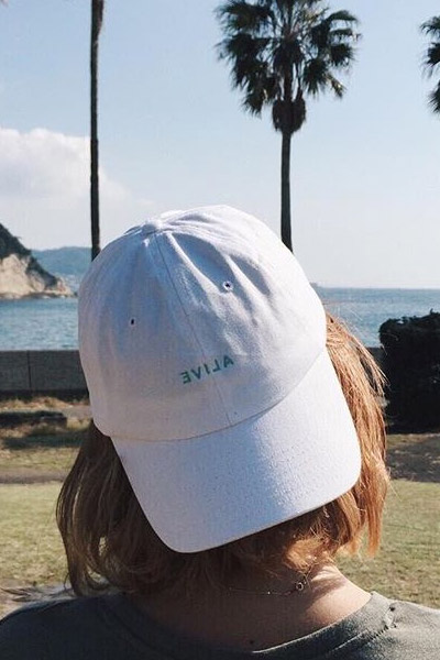 ALIVE DAD'S HAT White