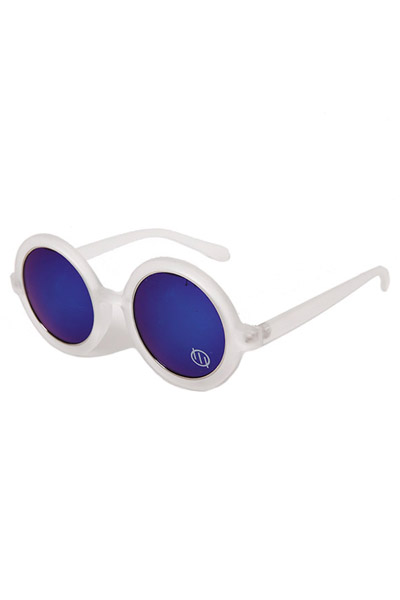 SILLENT FROM ME ANTHONY -Sunglass- WHITE/BLUE