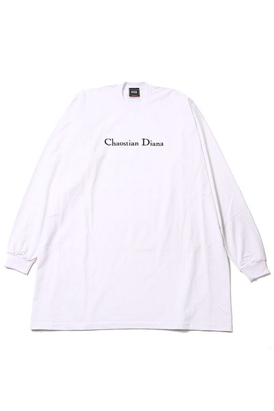 SILLENT FROM ME DIANA -Outsize Long Sleeve- WHITE
