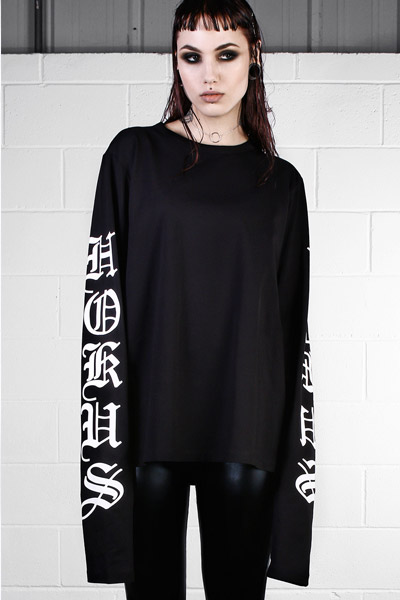 DISTURBIA CLOTHING HOCUS LONG SLEEVE TEE