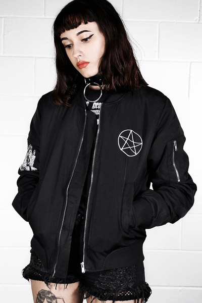 DISTURBIA CLOTHING BURN BOMBER