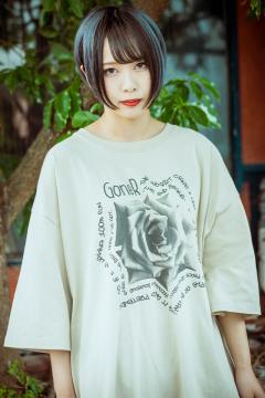 GoneR GR29CT003 Rose Messege T-Shirts Stone