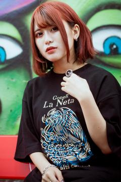 GoneR -La Neta- GRL04CT001 Mexican Flag T-Shirts Black