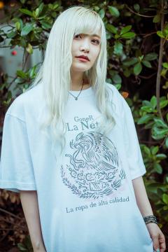GoneR -La Neta- GRL04CT001 Mexican Flag T-Shirts White