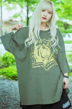 【予約商品】GoneR GR29CT003 Rose Messege T-Shirts Army Green