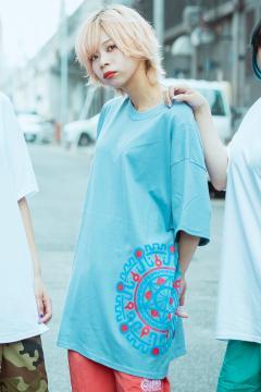 【予約商品】GoneR GR29CT001 Mexican Round Design T-Shirts Stone Blue