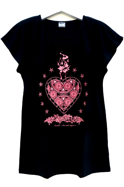 GoneR Mexican Heart T One-Piece Black/Pink