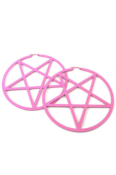 KILL STAR CLOTHING PENTAGRAM EARRINGS[P]