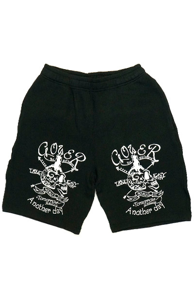 GoneR Candle Mexican Skull Short Pants Black